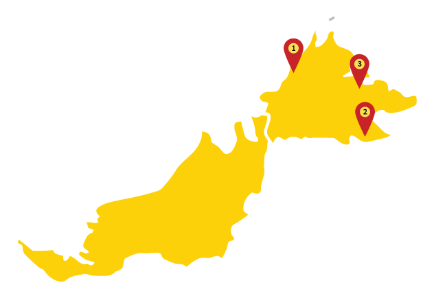 KRM Borneo Map