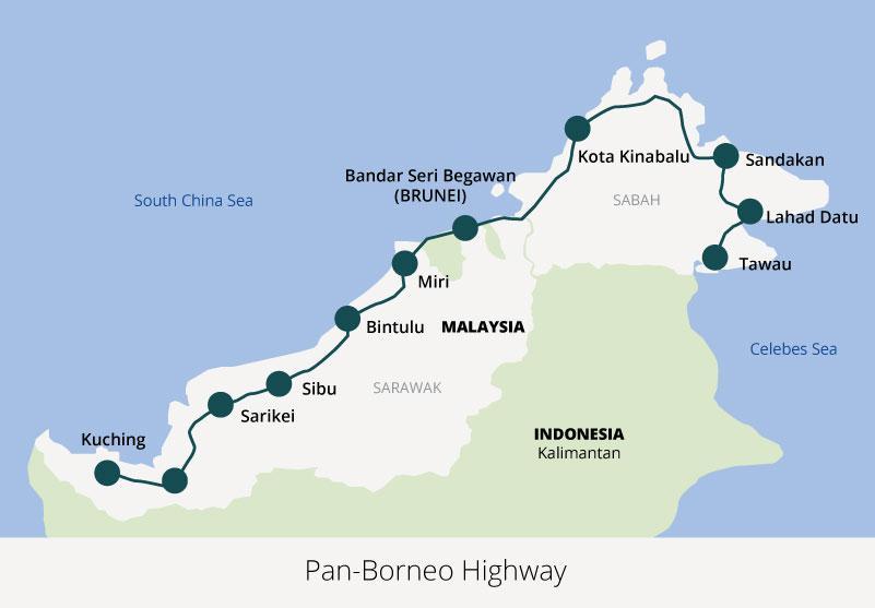 Pembinaan Lebuhraya Pan Borneo Dilancarkan Perdana Menteri